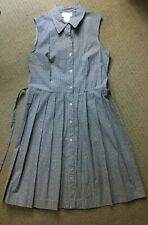 TALBOTS USA black & white gingham sleeveless shirt dress NWOT! Petite 8