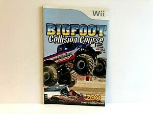 Bigfoot Collision Course Nintendo Wii MANUAL ONLY Authentic Insert FRENCH