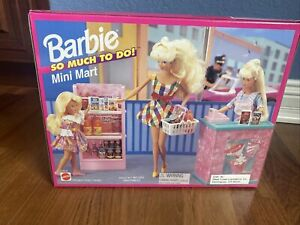 "RARE BNIB Vintage 1995 Barbie Mini Mart ""So Much To Do"" Mattel Never Opened!!"