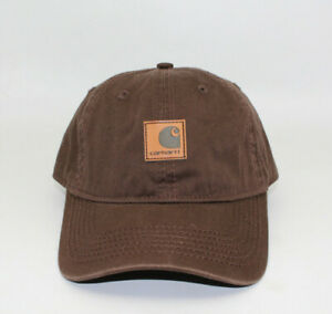 New Carhartt Hats Mens Odessa Adjustable Fast-Dry Leather Label Baseball Caps