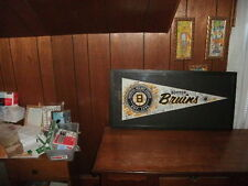 Boston Bruins Signed Pennant bruins legends picture framed glass hang on wall