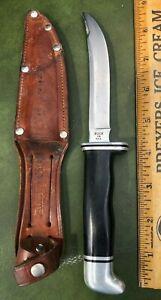 Vintage Buck #118 Clean Fixed Blade Skinner Knife w/Sheath