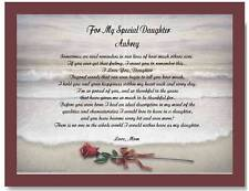 Daughter Personalized Poem Gift For Birthday or Christmas