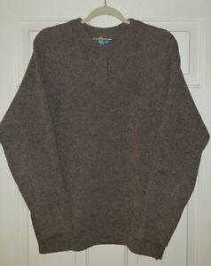 Vtg. Norsewear Virgin Wool Heavyweight Crewneck Sweater Small Brown New Zealand