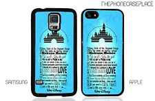 Disney Castle Walt Quote Phone Case for Apple or Samsung Phone Case Cover