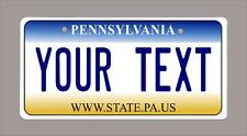 "PENNSYLVANIA custom novelty bicycle mini license plate- name or text 3""x6"""