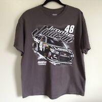 JIMMIE JOHNSON #48 NASCAR CHARCOAL 2 SIDED TEE SHIRT Sz XL Hendrick Motorsports