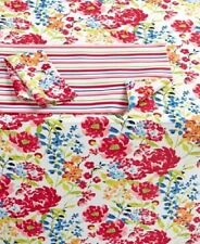 """Homewear Home Summertime Floral Tablecloth 60"""" x 84"""" Oblong Water Resistant New"""