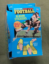 #T76. 1983 SCANLENS RUGBY LEAGUE STICKER  COUNTER DISPLAY  BOX, LID DETACHED