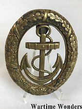 Original WW2 German Kriegsmarine KM Watch Officer's Duty Badge