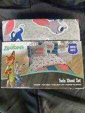 Disney Zootopia Twin Sheet Set polyester 3 pc kids bedding new