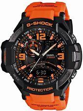 Casio GA1000-4A Men's G-Aviation Twin Sensor Orange Ana-Digi G Shock Watch