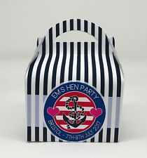Personalised Nautical Baby Shower Party Favour Gift Box Hen Night 1ST CLASS POST