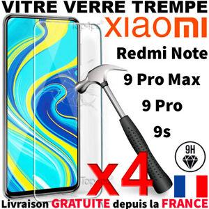 VERRE TREMPE POUR XIAOMI REDMI NOTE 9S 9 PRO 9 PRO MAX - PROTECTION ECRAN VITRE