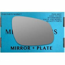 Right Driver side wing mirror glass for Vauxhall Viva 2015-2017 plate