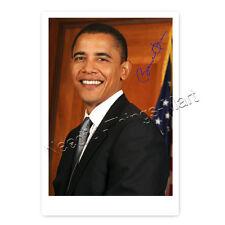 Barack Obama -  Autogrammfotokarte laminiert [AK2]