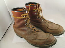 VTG 60s RED WING  LEATHER WORK VIBRAM MOC TOE BOOTS sz 11B