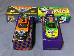 1998 Action 1/24 NASCAR Kenny Irwin # 28 Joker & Dale Jarrett # 88 Batman