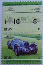 1935 DELAHAYE Type 35 CABRIOLET Car Stamps (Leaders of the World / Auto 100)