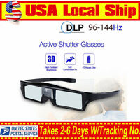 3D DLP-Link 144Hz Active Shutter Glasses Home Movie For BenQ Samsung Projector