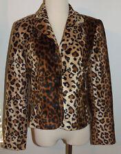 INC International Concepts Ladies Leopard Print Blazer Jacket - Size 8