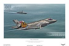 809 Naval Air Squadron Lockheed/Martin F35-B Lightning II Digital Art PRINT