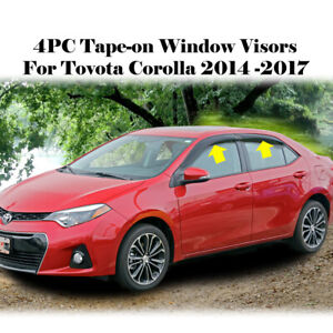 Fits Toyota Corolla 2014 2015 2016 Rain Guards Window Vent Visors