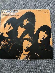 THE RAMONES Baby, I Love You Vinyl Record Single 7 Inch Sire 1980 Punk Pop Music