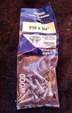"TPG - Crown Bolt Flat Head Philips Wood Screws #10 x 3/4"" Zinc Plated (12) 20961"