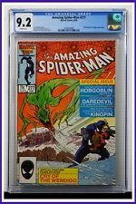Amazing Spider-Man #277 CGC Graded 9.2 Marvel June 1986 White Pages Comic Book.
