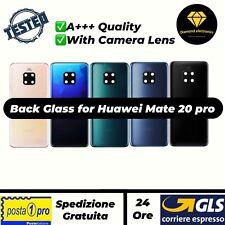 Vetro Posteriore Scocca Back Glass Cover Copertura Huawei Mate 20 pro + Vetrino