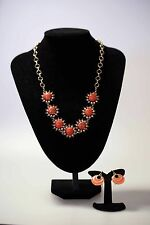 SPORTSCRAFT Set - Necklace & Earrings coral-red colour new tag adjustable chain