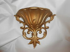 Home Interior Resin Gold Wall Pocket