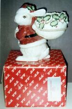 Fitz & Floyd Old World Christmas Bunny with Bag Planter Mint in Box 1989 #19/113