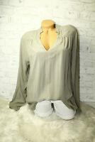 Italy Shirt  Long puder Tunika Bluse Gr. 36 38 40 42 blogger khaki blogger