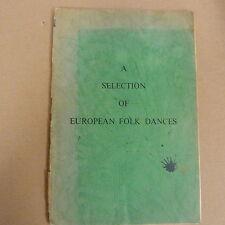 Una selezione di DANZE POPOLARI EUROPEE 1956