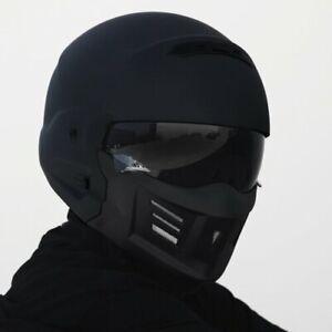 Johnny Reb Zeil Full Face Modular Motorcycle Helmet - Matte Black/Black