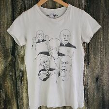 Star Trek Many Moods Captain Pickard T Shirt Sz Small Sci Fi TV Show C'mon Wms