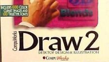 CompuWorks Draw 2 PC CD desktop design illustration clipart truetype fonts tools