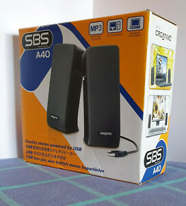 Computer & Laptop Portable Speakers Creative SBS-A40 USB Powered. Like new