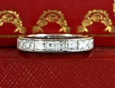 $52,000 Rare Cartier Platinum 4.20ct Square Step Diamond Eternity Wedding Ring