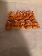 Vtg Christmas Tree Blow Mold light covers 9 Teddy Bear no stringlights included
