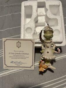 Lenox Dr Seuss Grinch Christmas Ornament A Very Grinchy Christmas