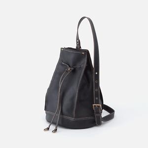 HOBO Coast Leather Backpack color Black NEW