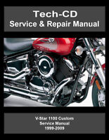 yamaha v star 650 custom xvs650 full service repair manual 1998 2011