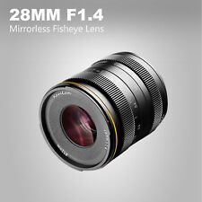 Kamlan 28mm F/1.4 Aperture Manual Focus Lens for Sony E-mount Mirrorless Cameras