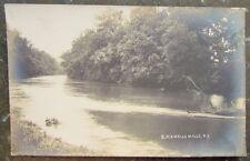 BLACKWELLS MILLS N.J. RIVER RPPC ANTIQUE REAL PHOTO POSTCARD