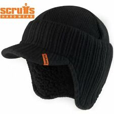 SCRUFFS Warm Winter Peaked Beanie Thermal Insulated Outdoor Black Workwear Hat