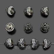 Top Quality Tassel Cap Czech Crystal Pave Rhinestones Charm Beads Jewelry Making