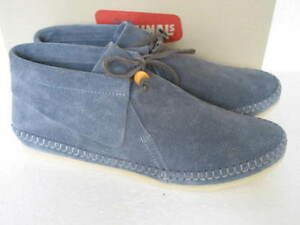 NEW  CLARKS ORIGINALS TYLER WEAVE BLUE SUEDE ANKLE DESERT BOOTS SIZE 4 ,4.5,3.5